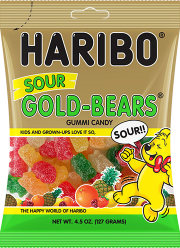 Haribo Confectionery Sour Gold Bears - 1.8 Oz.
