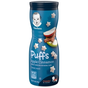 Gerber Graduates Puffs Apple Cinnamon Baby Cereal Snack - 1.48 Oz.