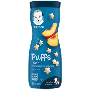 Gerber Graduates Puffs Peach Baby Cereal Snack - 1.48 Oz.