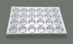 24 Cup Aluminum Muffin Pan - 20.5 in. x 14 in.