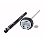 Digital Thermometer Black 0.94 in. LCD