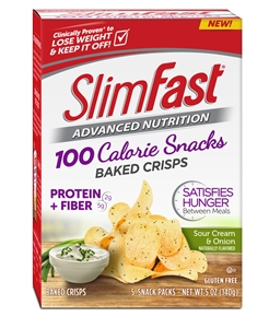 Slimfast Pop Crisps Sour Cream and Onion - 28 Gr.