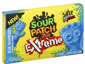 Stride Sour Patch Kids Gum Blue Raspberry