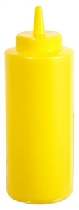 Squeeze Bottle Yellow - 12 Oz.