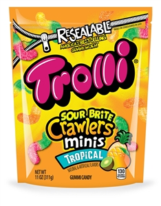 Trolli Sour Brite Crawlers Minis Tropical - 9 Oz.