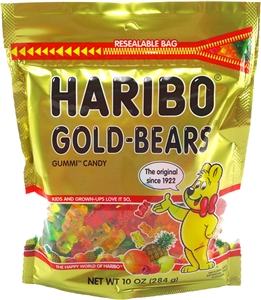 Haribo Confectionery Gold Bears Stand Up Bag - 10 Oz.