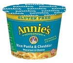 Annies Gluten Free Macaroni and Cheese Rice Pasta Cheddar MW Cup - 7 Oz.