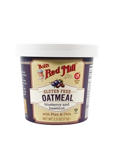 Bobs Red Mill Gluten Free Blueberry Hazelnut Oatmeal Cup - 2.5 Oz.