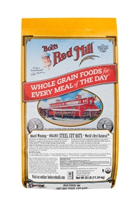 Bobs Red Mill Organic Steel Cut Oats - 25 Lb.