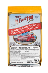Bobs Red Mill Organic White Rice Flour - 25 Lb.