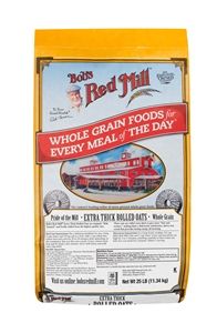 Bobs Red Mill Extra Thick Rolled Oats - 25 Lb.