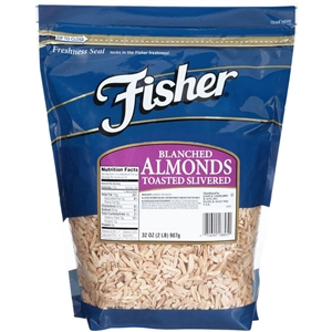 Fisher Blanched Almonds Slivered Toasted - 32 Oz.