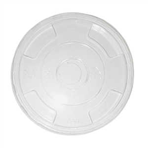 Compostable Corn Starch Flat Lid Cup - 32 Oz.