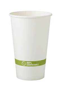 FSC Mixed Paper Hot White Cup - 16 Oz.