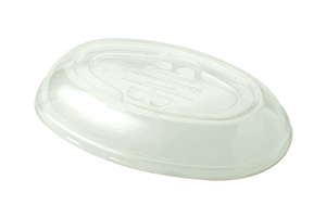 32 Oz. Burrito Bowls Lid Clear Ingeo - 9.5 in. x 6.5 in. x 1.5 in.