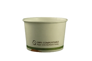 Paper With Compostable Lining Bowl White - 8 Oz.