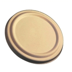 Unbleached Plant Fiber Barrel Bowl Soup Lids - 8 - 16 Oz.