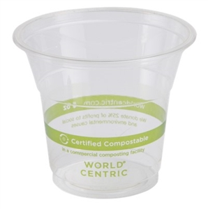Souffle Clear Plastic Corn Starch Cup - 5 Oz.