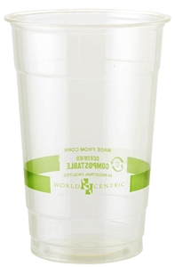 Biocompostable Corn Starch Clear Cup - 20 Oz.