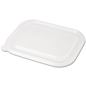 Ingeo Compostable Fiber Box Lids - 8.8 in. x 6.8 in.