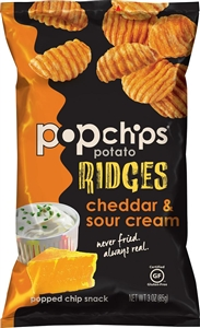 Popchips Ridges Cheddar and Sour Cream - 3 Oz.