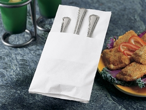 Quickset White Dinner Napkin Paper - 17 in. x 17 in.