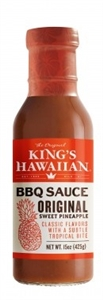 Kings Hawaiian Original Sweet Pineapple Barbecue Sauce - 15 Oz.