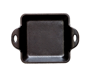 Heat-Treated Cast Iron Square Mini Server - 10 Oz.