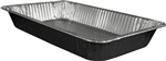 Full Size Steam Table Deep Aluminum Foil Pan Black