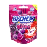 Hi-Chew Bites Grape and Strawberry Flavor Peggable Pouches - 1.59 Oz.