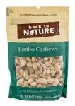 Back To Nature Nuts Sea Salt Roasted Jumbo Cashews - 9 Oz.