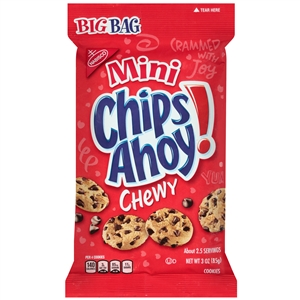 Nabisco Chips Ahoy Big Bag Cookies Mini Chewy - 3 Oz.