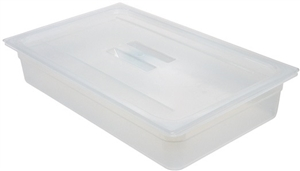 Polypropylene Translucent Full Size Food Pans - 4 in.