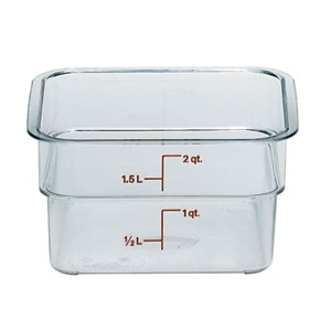 Camwear Square Storage Container Clear - 2 Qt.