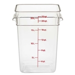 Camwear CamSquare Clear Food Storage Container - 22 Qt.