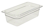 Camwear Clear Food Pan Third Size - 4 in.