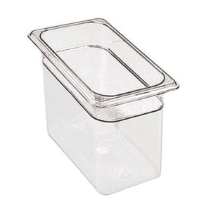 Camwear Clear Food Pans Third Size - 6 in.
