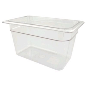 Camwear Food Pan Clear Fourth Size - 6 in.