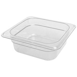 Camwear Clear Food Pan Plastic Sixth Size - 2.5 in.