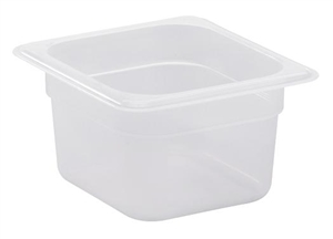 Translucent Food Pan Sixth Size - 4 in.