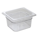 Camwear Clear Food Pan Sixth Size - 6 in.