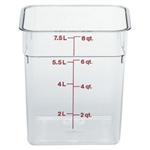 Camwear Plastic Square Container Clear - 8 Qt.