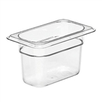 Camwear Clear Food Pan Ninth Size - 4 in.