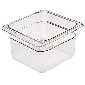 Camwear Clear Food Pans Sixth Size - 4 in.