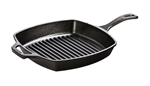 Square Cast Iron Grill Pan - 10.5 in.