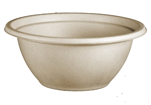 Unbleached Plant Fiber Compostable Bowls - 32 Oz.