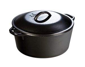 Lodge Cast Iron Dutch Oven with Loop Handles - 5 Qt.