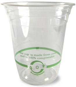 Ingeo Compostable Clear Cups - 14 Oz.