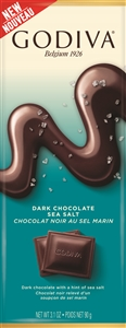 Godiva Chocolatier Dark Sea Salt 90 gram Tablet - 3.1 Oz.