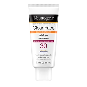 Clear Face Liquid Lotion Sunscreen Broad Spectrum SPF 30 - 3 Fl. Oz.